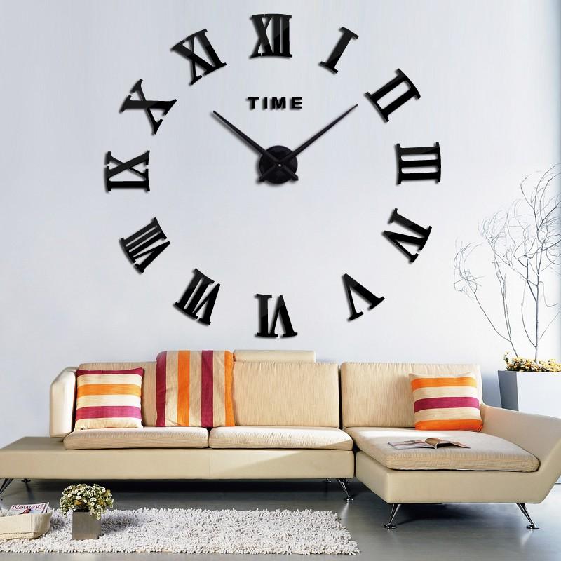 Jam Dinding Raksasa DIY 80-130cm Diameter - WLCS10070 - Silver - 6 ... 6d5188d7fc