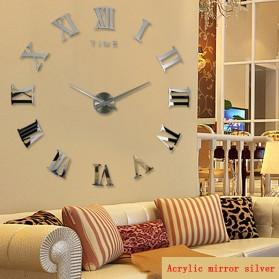 Taffware Jam Dinding Besar DIY Giant Wall Clock Quartz Creative Design 80-130cm - DIY-106 - Black - 6