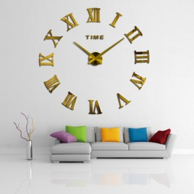 Jam Dinding Besar DIY Giant Wall Clock Quartz Creative Design 80-130cm - DIY-106 - Golden