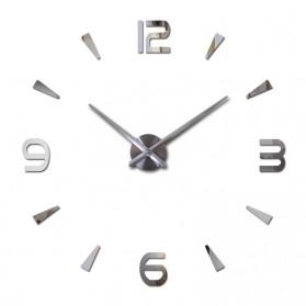 Jam Dinding Besar DIY Giant Wall Clock Quartz Creative Design 80-130cm - DIY-104 - Silver - 2