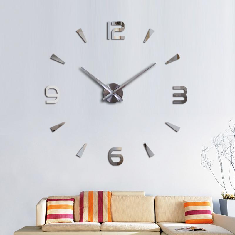... Jam Dinding Raksasa DIY 80-130cm Diameter - 12s003 - Silver - 1 ... 1bca9065f5