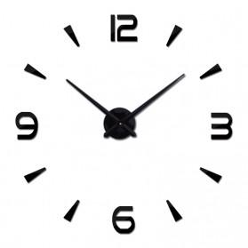 Jam Dinding Besar DIY Giant Wall Clock Quartz Creative Design 80-130cm - DIY-104 - Black - 2