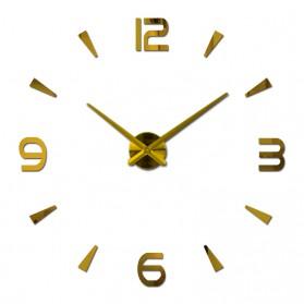 Taffware Jam Dinding Besar DIY Giant Wall Clock Quartz Creative Design 80-130cm - DIY-104 - Golden - 2