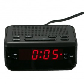 Jam Meja LED Digital Clock dengan FM Radio - CR-246 - Black - 1