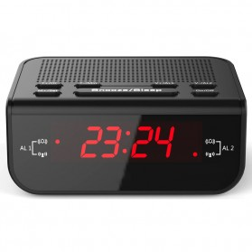 Jam Meja LED Digital Clock dengan FM Radio - CR-246 - Black - 3