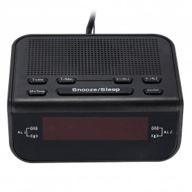 Jam Meja LED Digital Clock dengan FM Radio - CR-246 - Black - 5