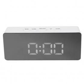 Jam Meja LED Digital Mirror Clock with Temperature - TS-S69 - White - 1