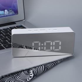 Jam Meja LED Digital Mirror Clock with Temperature - TS-S69 - White - 2