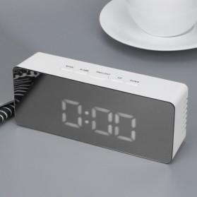 Jam Meja LED Digital Mirror Clock with Temperature - TS-S69 - White - 3