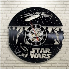 Jam Dinding Quartz Creative Design Model Hollow Star Wars - NS014 - Black