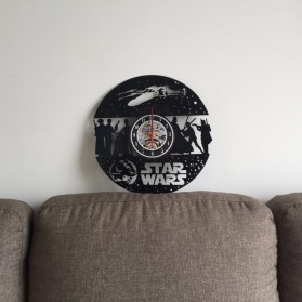 Jam Dinding Quartz Creative Design Model Hollow Star Wars - NS014 - Black - 2