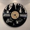 Jam Dinding Quartz Creative Design Model Hollow Star Wars - NS006 - Black