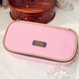Kotak Tempat Pensil Canvas Multifungsi - Pink