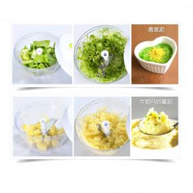Juxin Speedy Chopper Blender Tangan Pemotong Daging Bawang Buah dan Sayuran - JX588 - Green - 6