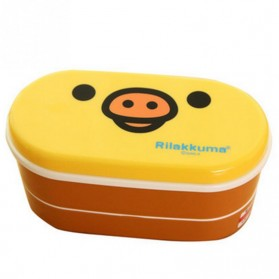 Kotak Makan 2 Tingkat Model Rilakkuma - Yellow