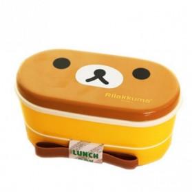 Kotak Makan 2 Tingkat Model Rilakkuma - Brown