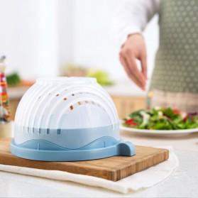Mangkuk Pemotong Sayur Salad Cutter Bowl - Blue - 2