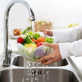 Mangkuk Pemotong Sayur Salad Cutter Bowl - Blue - 3