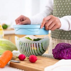 Mangkuk Pemotong Sayur Salad Cutter Bowl - Blue - 5
