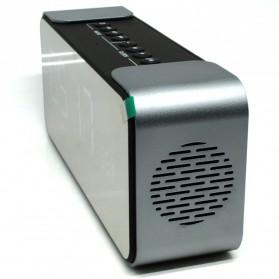 Jam Weker Alarm Meja LED dengan Speaker Bluetooth - PTH-305 - Gray - 2