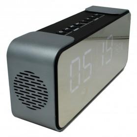 Jam Weker Alarm Meja LED dengan Speaker Bluetooth - PTH-305 - Gray - 3