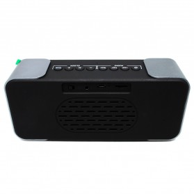Jam Weker Alarm Meja LED dengan Speaker Bluetooth - PTH-305 - Gray - 4