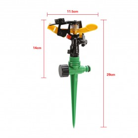 LeKing Rotate Sprinkler Spray Nozzle Air Irigasi Taman 1/2 inch - 10321 - Green - 7