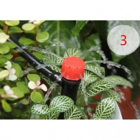 Water Mist Sprinkler Drip Irigasi Penyiram Air Taman Nozzle Spray 360 Derajat 10 PCS - Black - 6