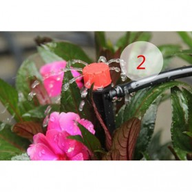 Water Mist Sprinkler Drip Irigasi Penyiram Air Taman Nozzle Spray 360 Derajat 10 PCS - Black - 7