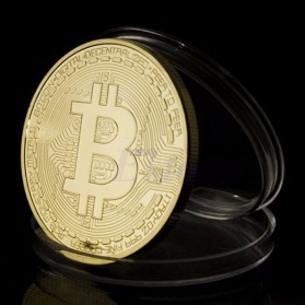 Gold Plated Bitcoin Miniatur - Golden