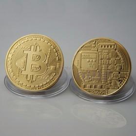 Gold Plated Bitcoin Miniatur - Golden - 2