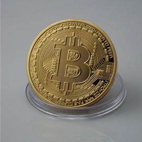 Gold Plated Bitcoin Miniatur - Golden - 3