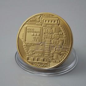 Gold Plated Bitcoin Miniatur - Golden - 4