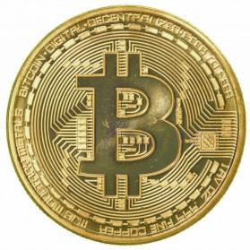 Gold Plated Bitcoin Miniatur - Golden - 5