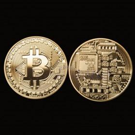 Gold Plated Bitcoin Miniatur - Golden - 6