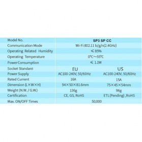 Broadlink Stop Kontak Smart Plug WiFi Timer EU Plug - SP3 - White - 7