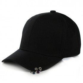 Topi Baseball Cool Piercing Design - Black