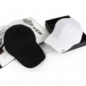 Topi Baseball Cool Piercing Design - ALDHNY03 - Black - 2