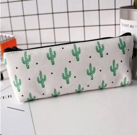 Kotak Pensil Cute Kawaii Cactus - White/Green