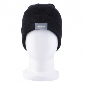 Topi Kupluk Khusus Camping dengan Lampu LED Beanie Hat - Black