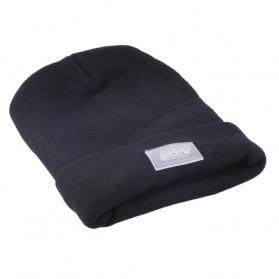Faddare Topi Kupluk Khusus Camping dengan Lampu LED Beanie Hat - Black - 6