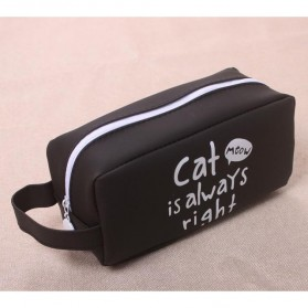Kotak Pensil Cute Cat Meow - Black