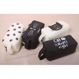 Kotak Pensil Cute Cat Meow - Black - 4