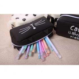 Kotak Pensil Cute Cat Meow - Black - 5