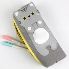 Kotak Pensil Cute Kawai Cat - Black - 6