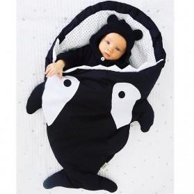 Kantung Tidur Bayi Lucu Model Shark Size L - Black