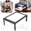 Alat Tulis Kantor - NEWACALOX Kaca Pembesar Bentuk Meja dengan Lampu LED - HL-A4 - Black White