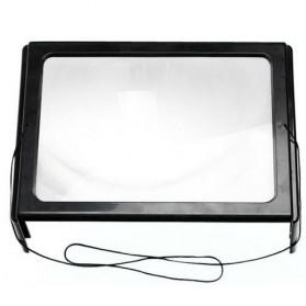 NEWACALOX Kaca Pembesar Bentuk Meja dengan Lampu LED - HL-A4 - Black White - 2