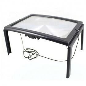 NEWACALOX Kaca Pembesar Bentuk Meja dengan Lampu LED - HL-A4 - Black White - 4