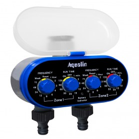 Aqualin Timer Irigasi Air Taman Otomatis 2 Outlet - YL21032 - Blue - 1